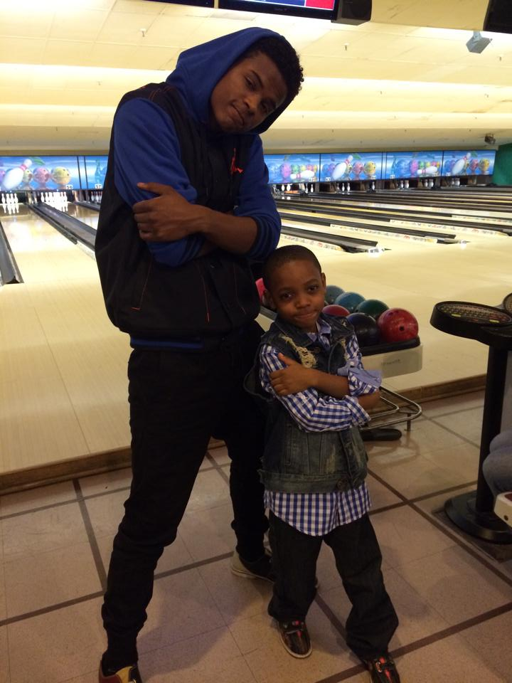 Trevor Jackson with one of his biggest  fans!