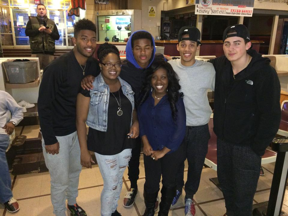"Trevor Jackson and his gang with Ms. Ebony J and Darleen ""Turn Up""."