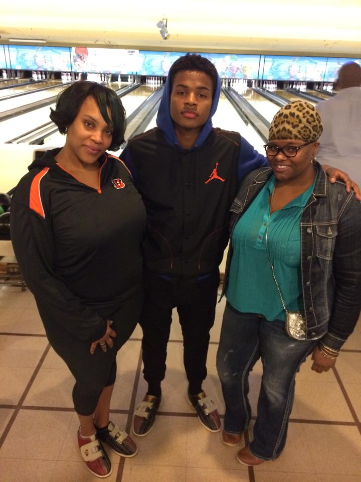 Trevor Jackson with winners of the Meet and Greet