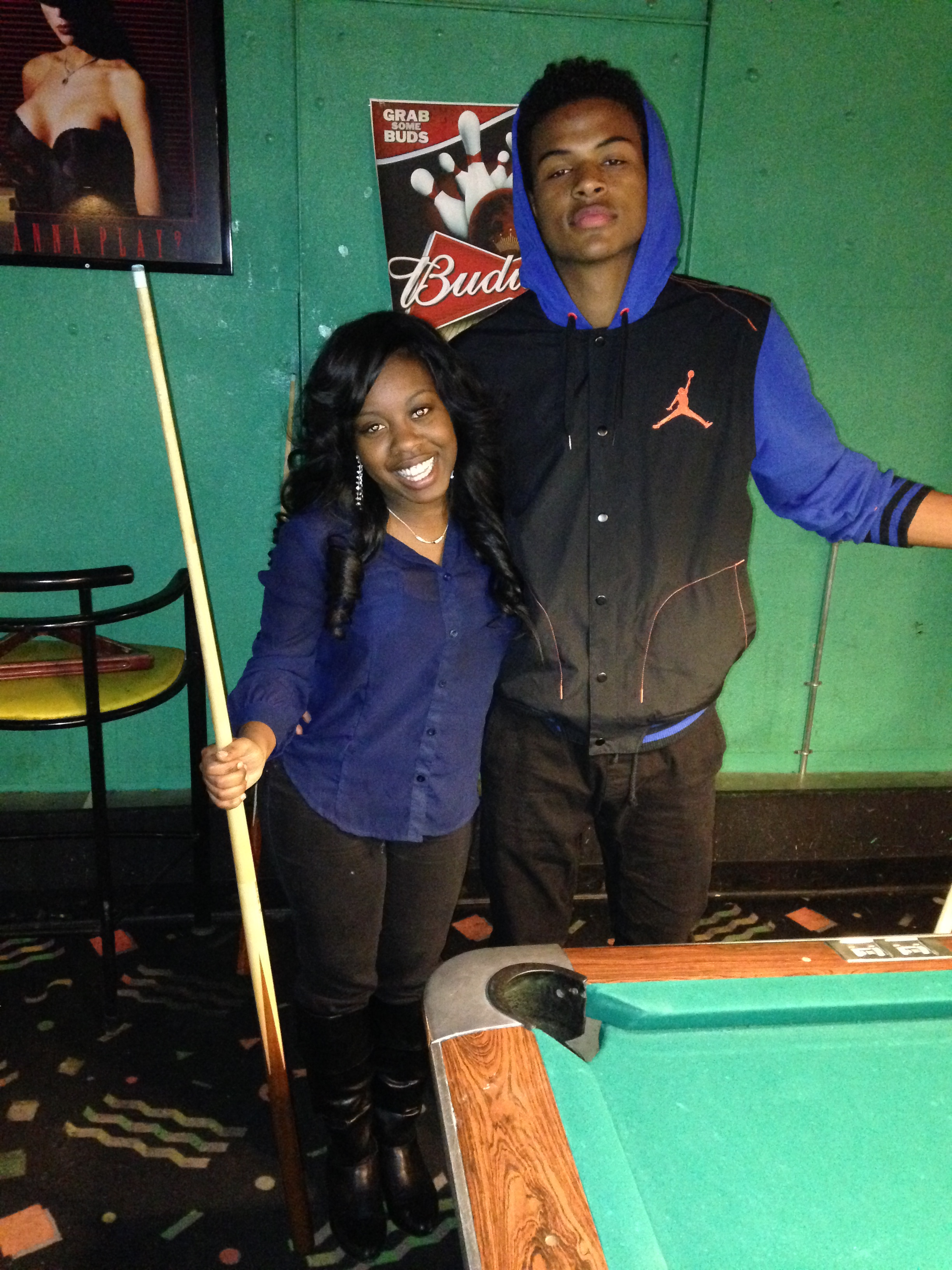 Ms. Ebony J with Trevor Jackson