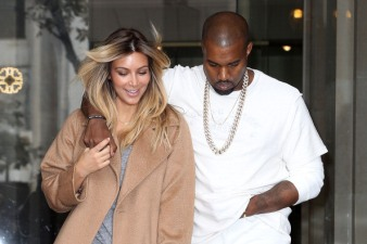 Kim Kardashian & Kanye West Sighting In Paris