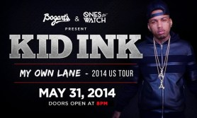 KID INK My Own Lane 2014 US Tour @ Bogarts 5/31