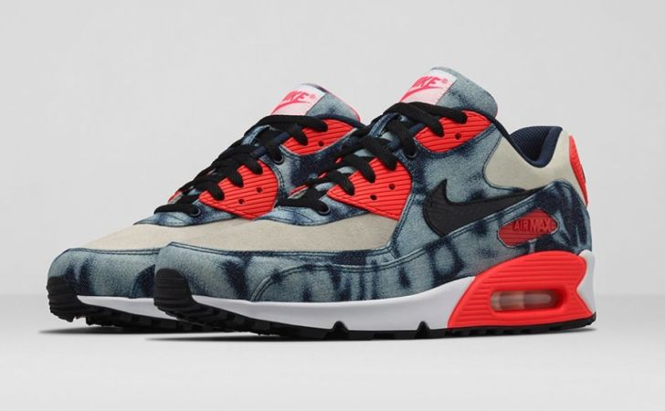 new product 55c9a 3eef5 nike-air-max-90-infrared-washed-denim-release-
