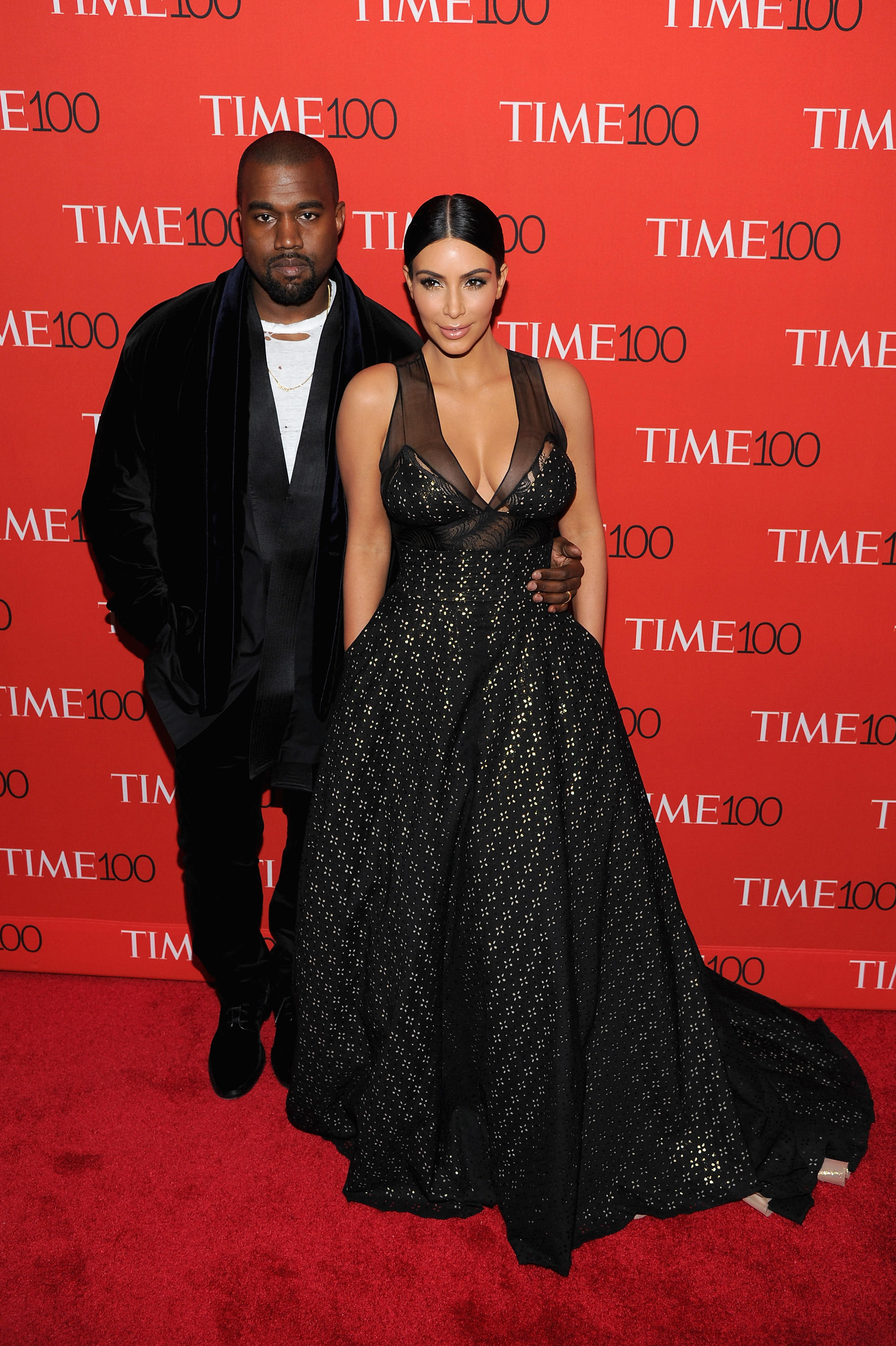 Kanye West and Kim Kardashian at TIME 100's Event