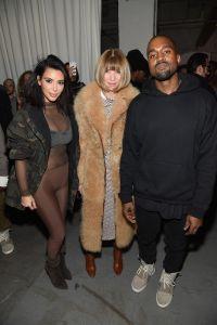 Kim Kardashian, Anna Wintour, and Kanye West at adidas event