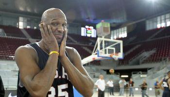 Team USA basketball player Lamar Odom ta