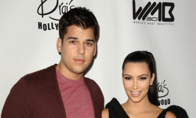 Rob Kardashian and Kim Kardashian