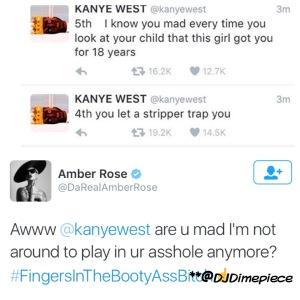 Amber Rose Responds back to Kanye's Tweets