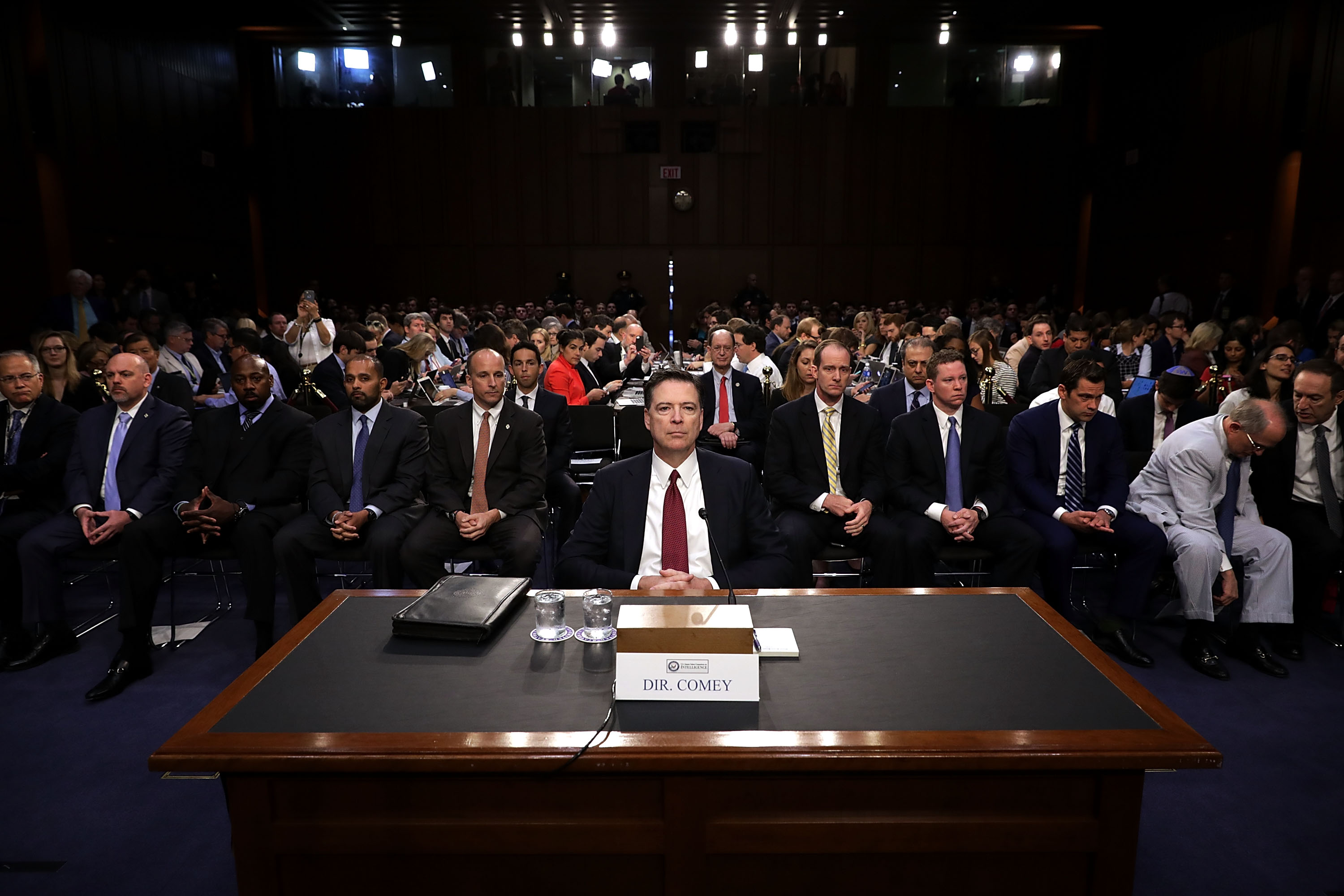 James Comey Testifies At Senate Hearing On Russian Interference In US Election