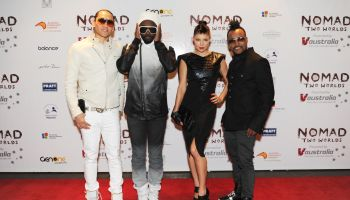 Black Eyed Peas Attend Opening Night Preview Of Nomads Two Worlds At Ngv, Melbourne
