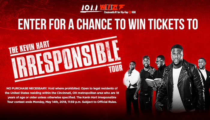 KEVIN HART IRRESPONSIBLE TOUR Sweepstakes