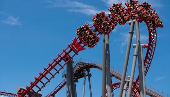 Kings Island Firehawk Rollercoaster