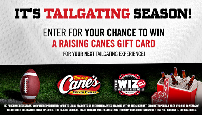 Raising Canes Ultimate Tailgate Giveaway RD CINCI NOV 2018