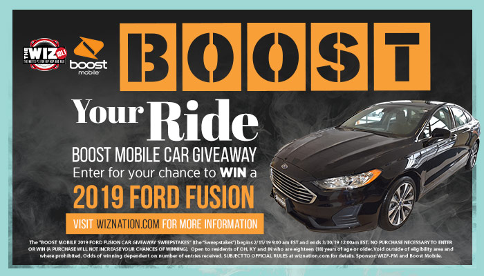 Boost Your Ride and Win a Ford Fusion! | 101 1 The Wiz
