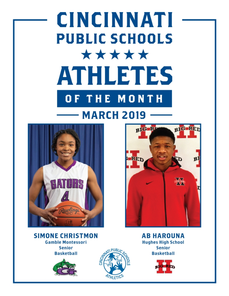 Cincinnati Public Schools Athlete of the Month March 2019