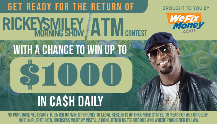 Rickey Smiley Morning Show ATM Contest Spring 2019