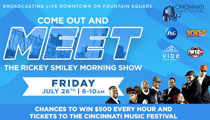 Rickey Smiley Morning Show Live Broadcast from From the Cincinnati Music Festival
