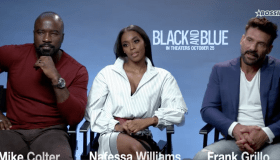 'Black And Blue' actors Mike Colter, Nafessa Williams and Frank Grillo