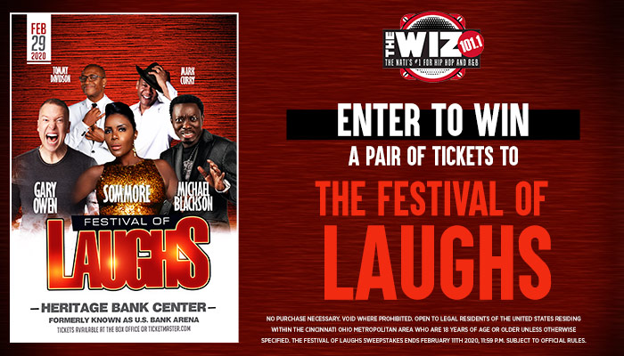 Festival of Laughs Enter to Win Contest_RD Cincinnati WIZF_January 2020