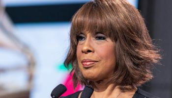 Gayle King at the press conference for 6...