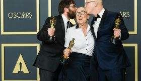 Steven Bognar, Julia Reichert & Jeff Reichert poses with the Oscar for Documentary (Feature) in the film American Factory during the the 92nd Academy Awards, 2020 on Sunday 9 February 2020