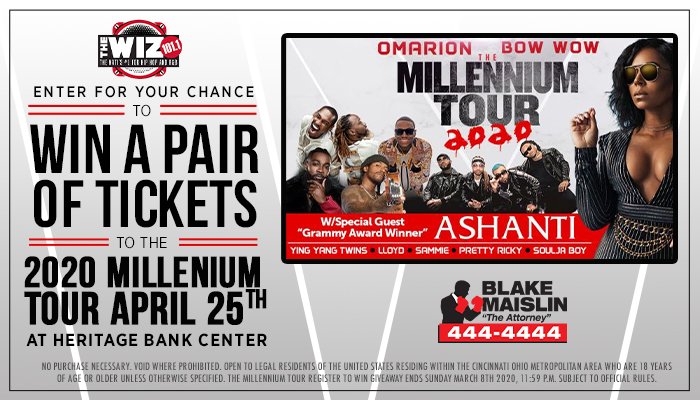 Millennium Tour Enter to Win Contest